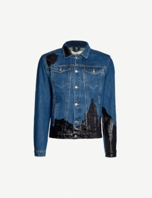 MISBHV Patent-trim denim jacket