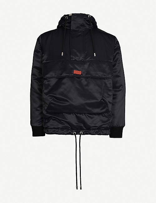 GCDS Tech shell and cotton-blend anorak