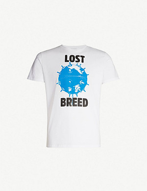RESORT CORPS Lost breed slogan cotton T-shirt