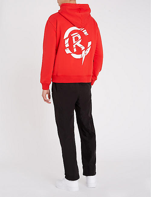 RESORT CORPS Fractured cotton-blend hoody