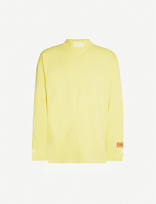 HERON PRESTON Logo-embroidered cotton-jersey sweatshirt