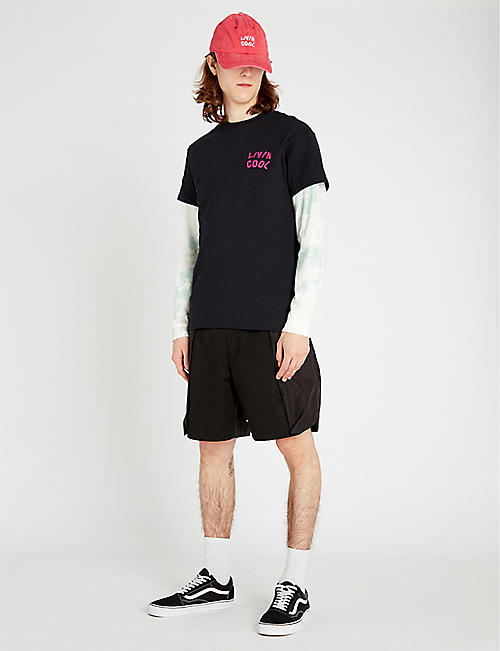 LIVINCOOL Wavy cotton-jersey T-shirt