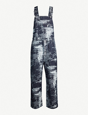 TAAKK Distressed-effect denim dungarees