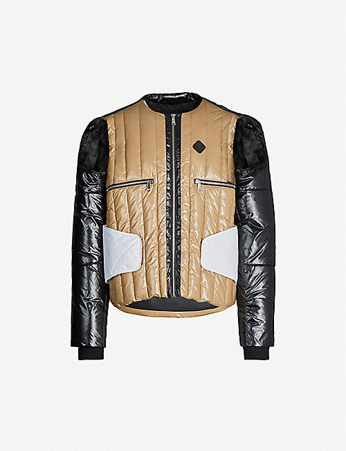 NICOMEDE PUFFA Padded riding shell jacket