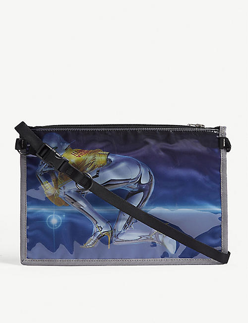 SORAYAMA Porter robot PVC cross-body bag