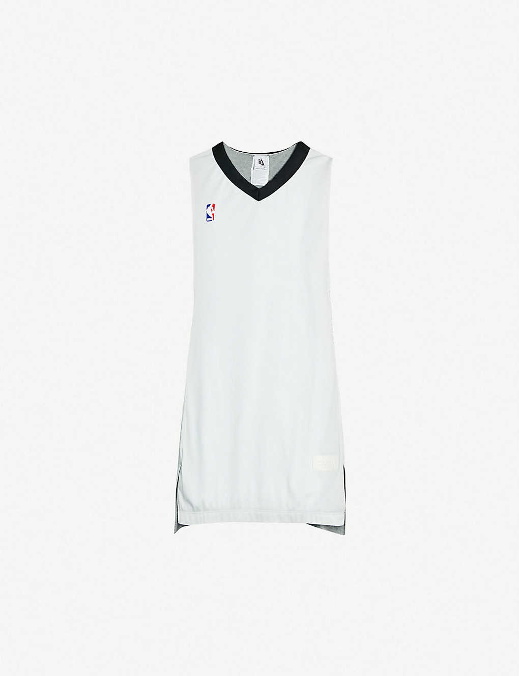 8ba9bbe7c8f Logo-print reversible sports-jersey top - White grey black ...