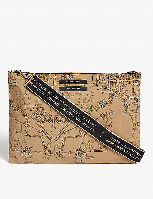 REESE COOPER Map print cross-body bag