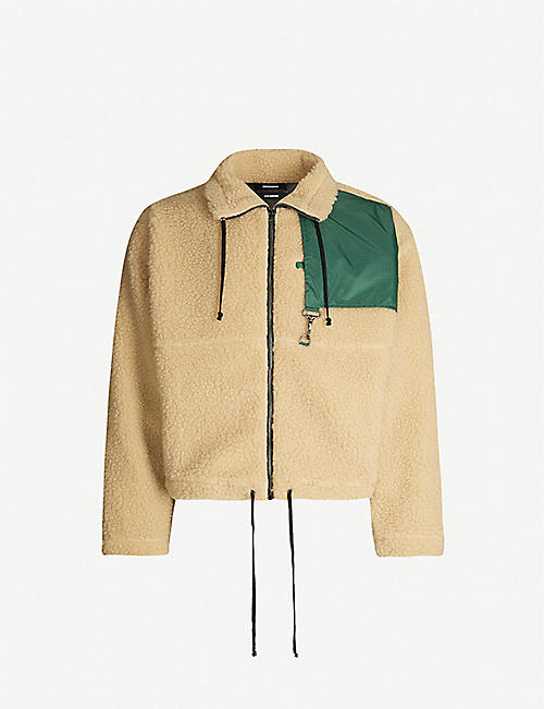 REESE COOPER Cropped sherpa fleece jacket