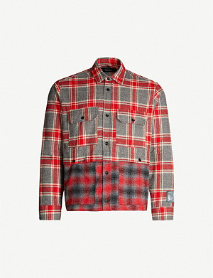 REESE COOPER Checked boxy-fit cotton-flannel shirt