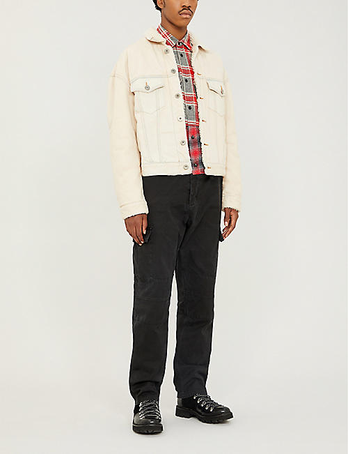 REESE COOPER Straight cotton cargo trousers