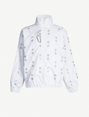STUDIO ALCH Eyelet-embellished shell jacket