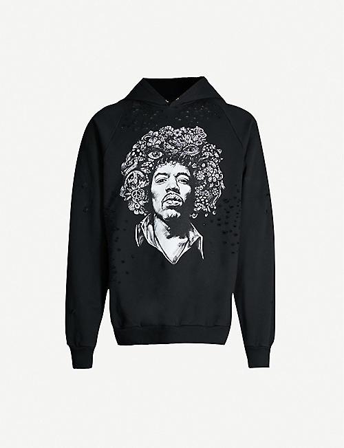 97ac8af2c78 DOMREBEL DOMREBEL x Selfridges Hendrix distressed cotton hoody