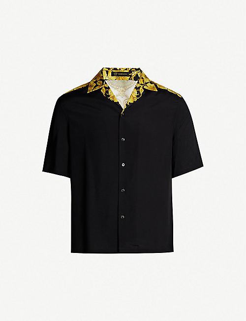 0e0265698 VERSACE Baroque-print regular-fit woven shirt
