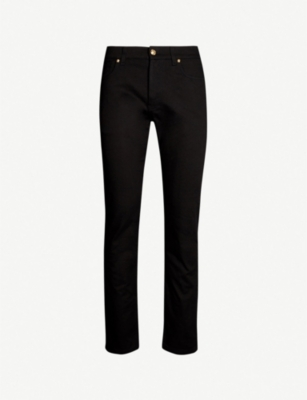 VERSACE Printed-pocket regular-fit straight-leg jeans