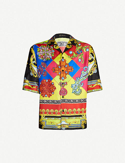 27f369b28d8 VERSACE Regular-fit printed silk-twill shirt