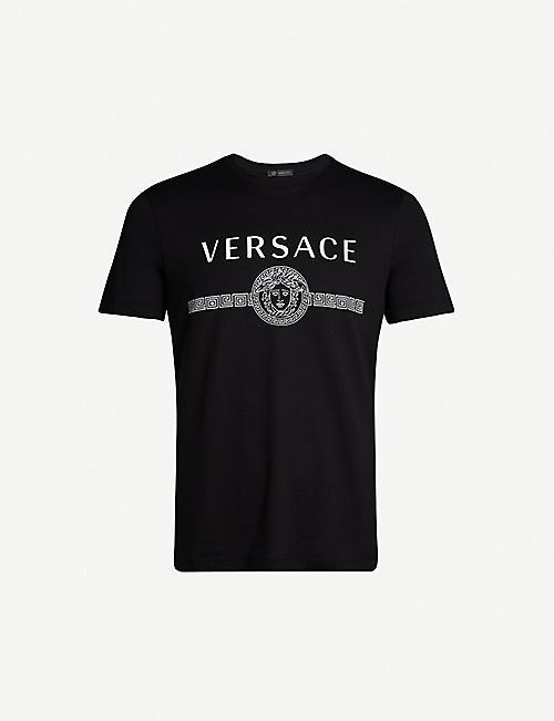 0137a1a9ee VERSACE Logo-print cotton-jersey T-shirt
