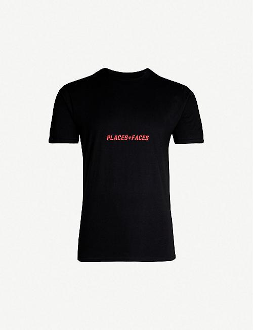 27b3bf2d92 PLACES + FACES Logo-print cotton-jersey T-shirt