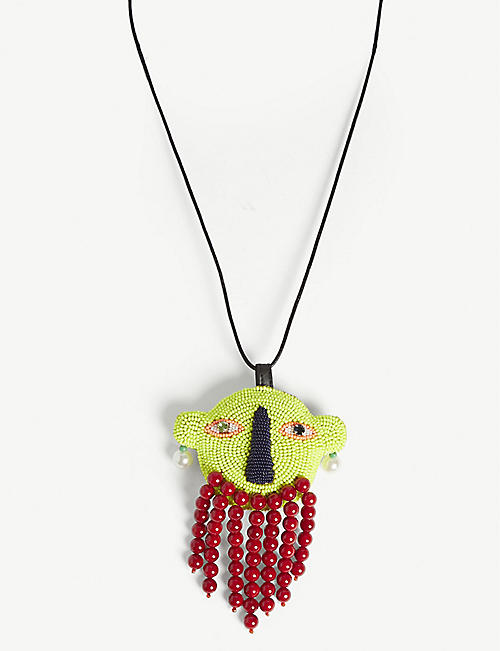 WALTER VAN BEIRENDONCK Shaman head necklace