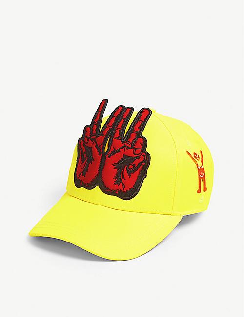26e7e22deca88 WALTER VAN BEIRENDONCK - Peace sign baseball cap   Selfridges.com