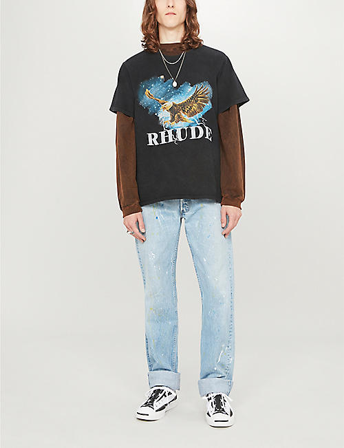 RHUDE Eagle Sky cotton-jersey T-shirt