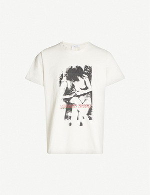 RHUDE Kiss-print cotton-jersey T-shirt