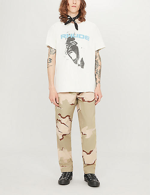 RHUDE Scream graphic-print cotton-jersey T-shirt