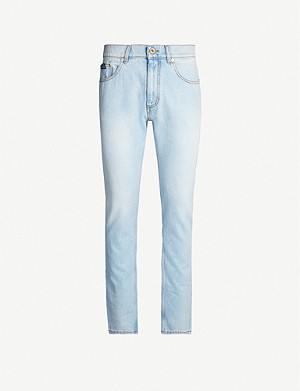 VERSACE JEANS COUTURE Slim-fit faded jeans