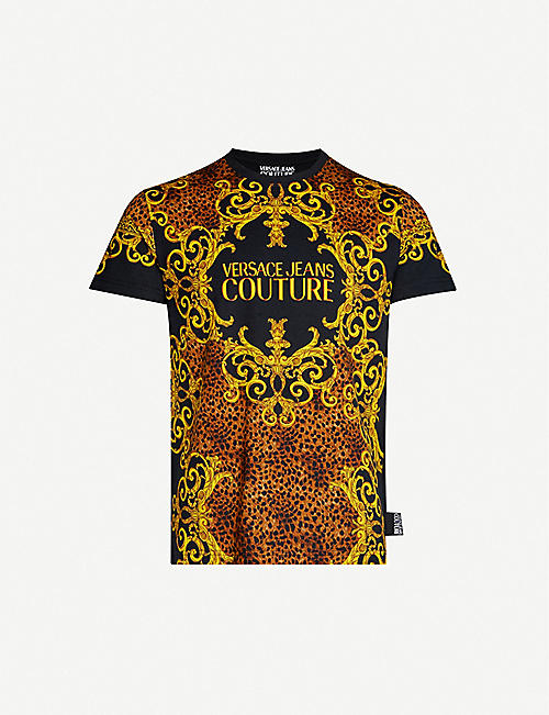 VERSACE JEANS COUTURE Baroque-print cotton-jersey T-shirt