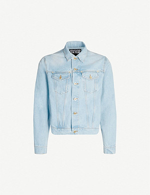 VERSACE JEANS COUTURE Logo-patch denim jacket