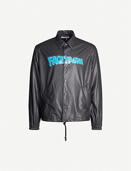 FACETASM Logo-printed coach jacket