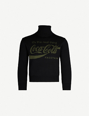 FACETASM FACETASM x Coca Cola turtleneck wool jumper