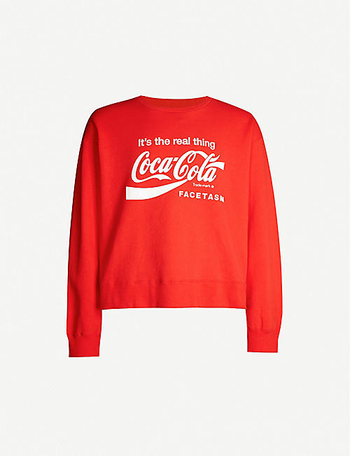 FACETASM FACETASM x Coca Cola cotton-jersey sweatshirt