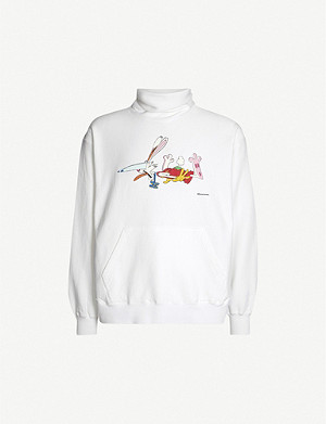 FACETASM Graphic-print cotton-jersey sweatshirt