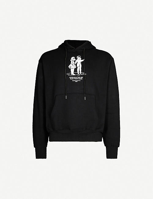 HUMAN SOCIETY Graphic-print cotton-jersey hoody