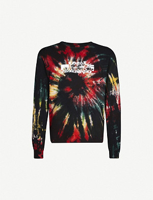 LOCAL AUTHORITY Tie-dye graphic-print cotton-jersey T-shirt