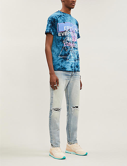 ERYS Exclusive tie-dye jersey T-shirt