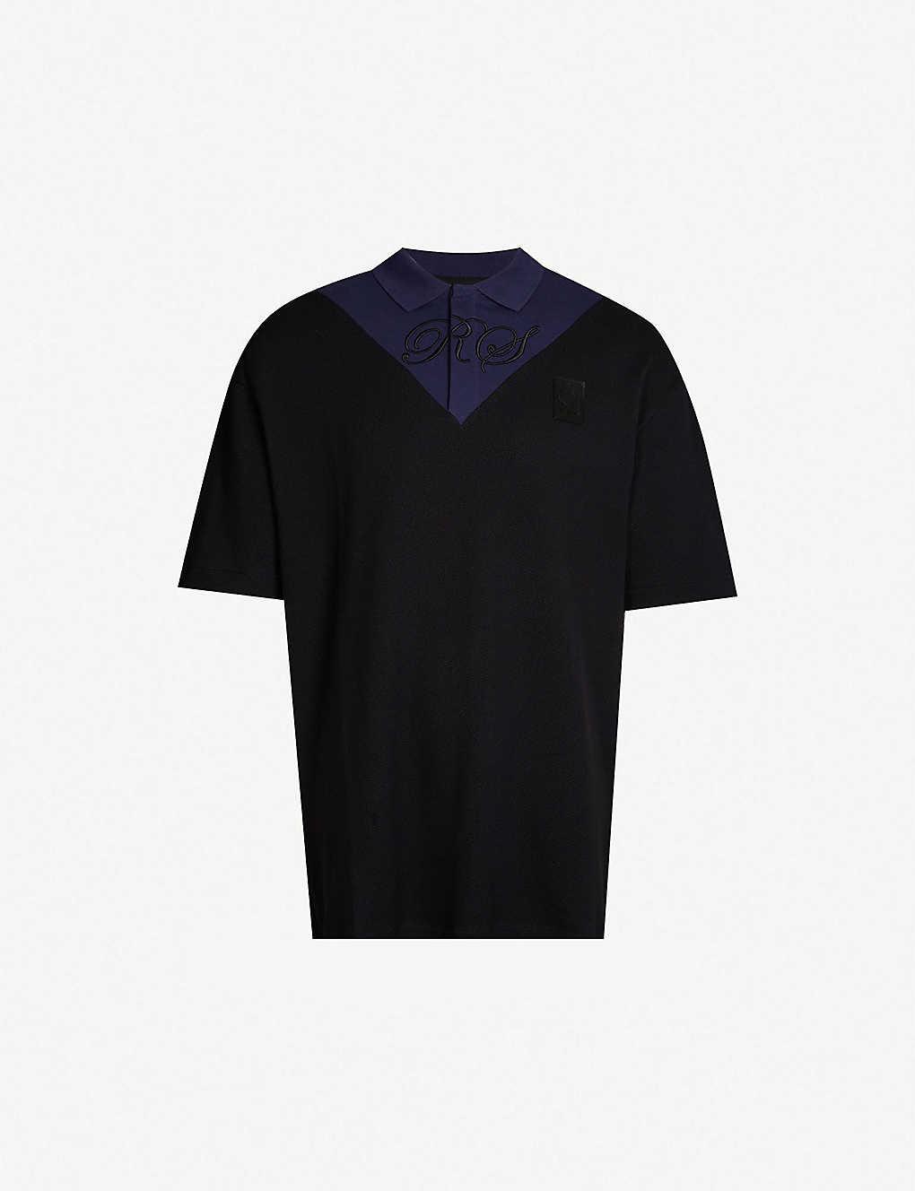 901879b1f RAF SIMONS X FRED PERRY - Logo-embroidered cotton-piqué polo shirt ...
