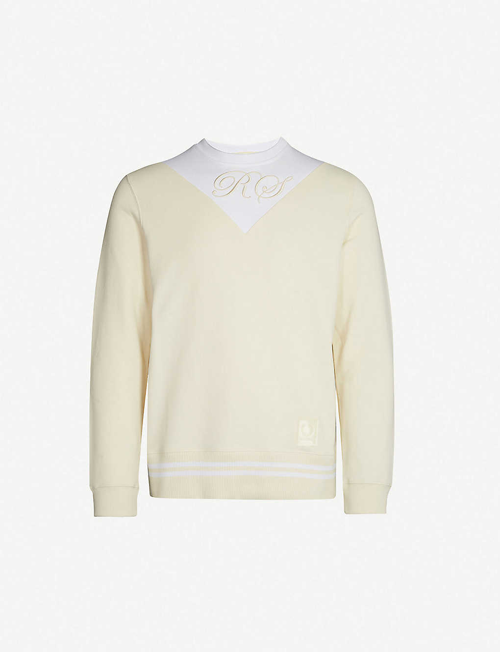 b65051e82 RAF SIMONS X FRED PERRY - Logo-embroidered cotton-jersey sweatshirt ...