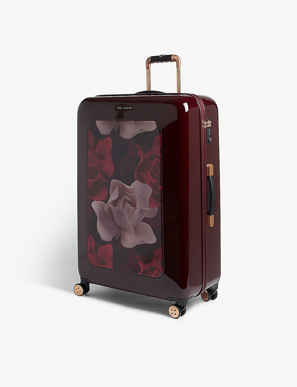 1a369b706 TED BAKER - Take Flight Porcelain Rose large four-wheel suitcase ...