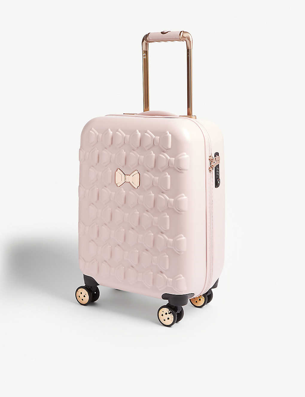 f744e9e49 TED BAKER - Beaue bow-detailed small four-wheel suitcase ...