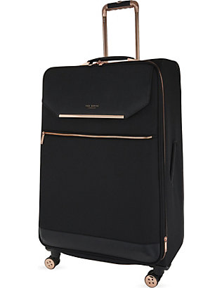 TED BAKER: Albany large four-wheel suitcase 82cm