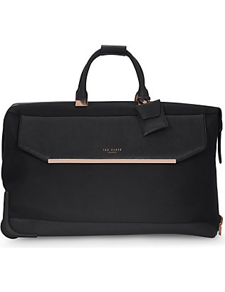 TED BAKER: Albany nylon two-wheel holdall 56.5cm