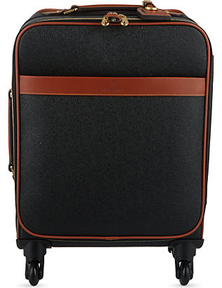 MULBERRY: Scotchgrain four-wheel trolley suitcase 55cm