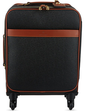 MULBERRY Scotchgrain four-wheel trolley suitcase 55cm