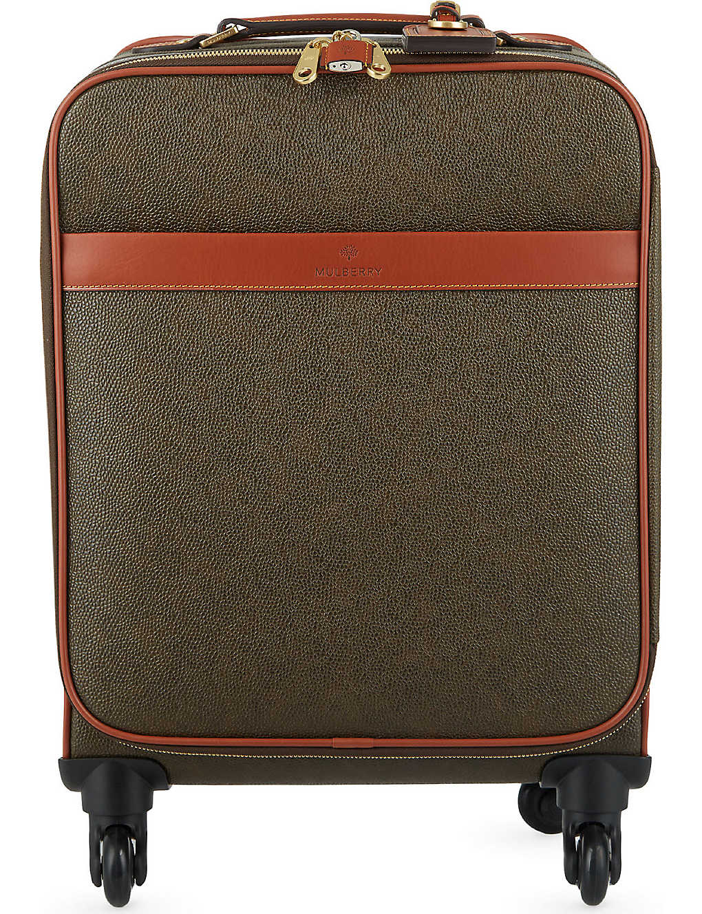 07f67b8ab2c MULBERRY - Scotchgrain four-wheel trolley suitcase 55cm | Selfridges.com