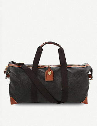 MULBERRY: Clipper medium scotchgrain and leather holdall