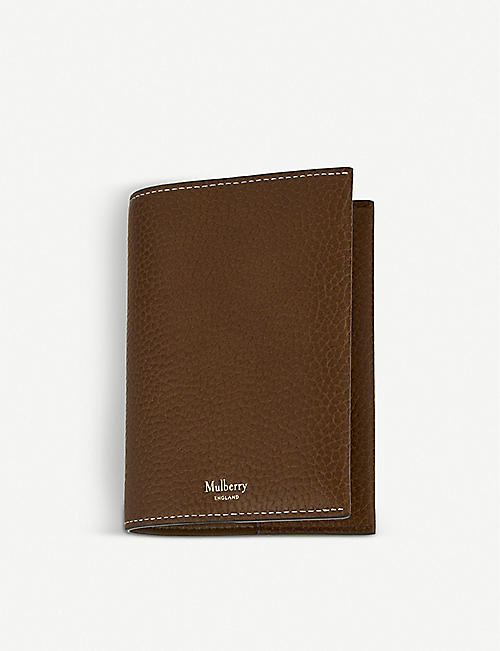 MULBERRY: Grained leather passport cover