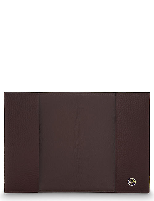 MULBERRY Grained leather passport cover