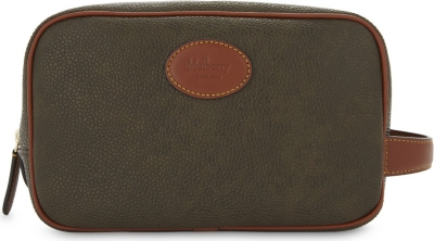 MULBERRY Scotchgrain leather wash bag