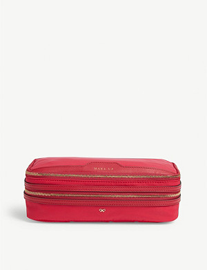 ANYA HINDMARCH Leather-trimmed nylon make-up bag